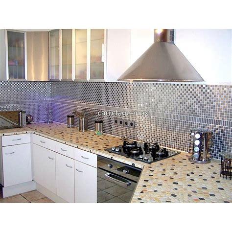 carrelage mosaique cuisine mosaïque inox 1m2 crédence cuisine carrelage damier 20