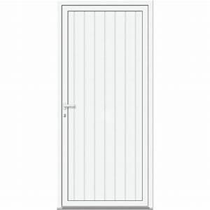 Porte De Service Leroy Merlin : porte de service aluminium poussant gauche x ~ Melissatoandfro.com Idées de Décoration