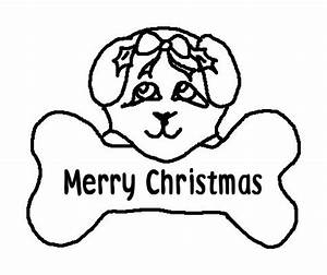 merry christmas dog printable colouring pages for kids