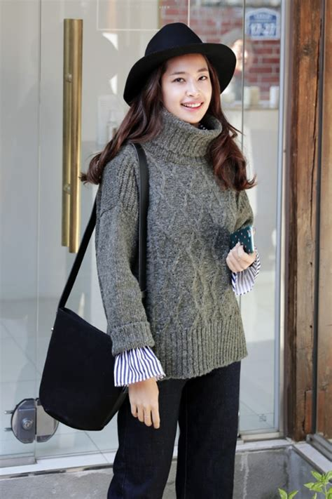 dahong diamond turtle neck sweater kstylick latest