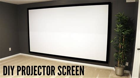 build  hang  projector screen  great video