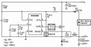 rt8458d high voltage high efficiency constant current With 3w power led driver circuit pwm high power led driver step down dc