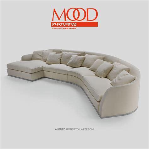 flexform mood alfred sectional sofa design roberto