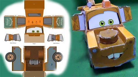 Tow Mater 3d Papercraft, How To Make Disney Pixar Tow