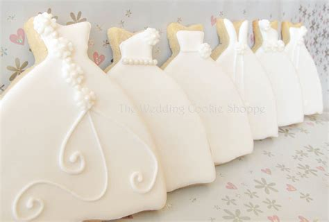 bridal shower cookie favors items similar to wedding dress bridal shower cookie favors
