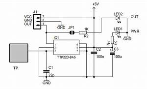 Ttp223 Capacitive Touch Switch Circuit