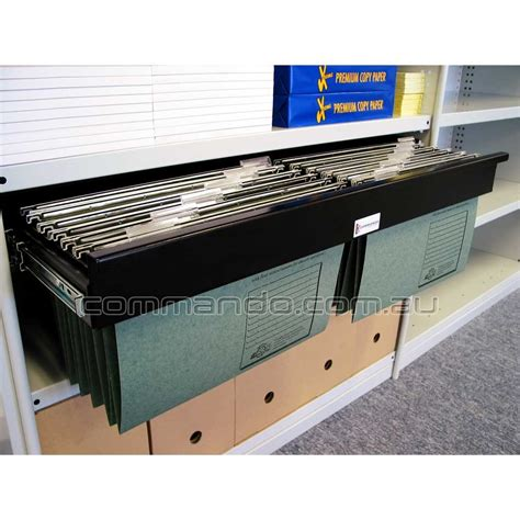 pull out file cabinet drawer pull out filing frame accessories commando storage systems