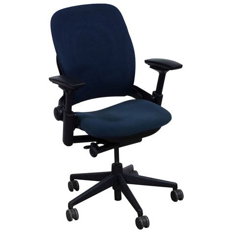 steelcase leap v2 used 3d mesh task chair blue national