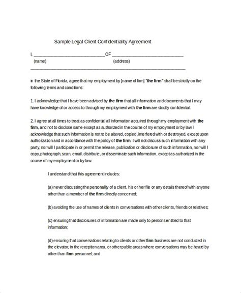 confidentiality agreement template newatvsinfo