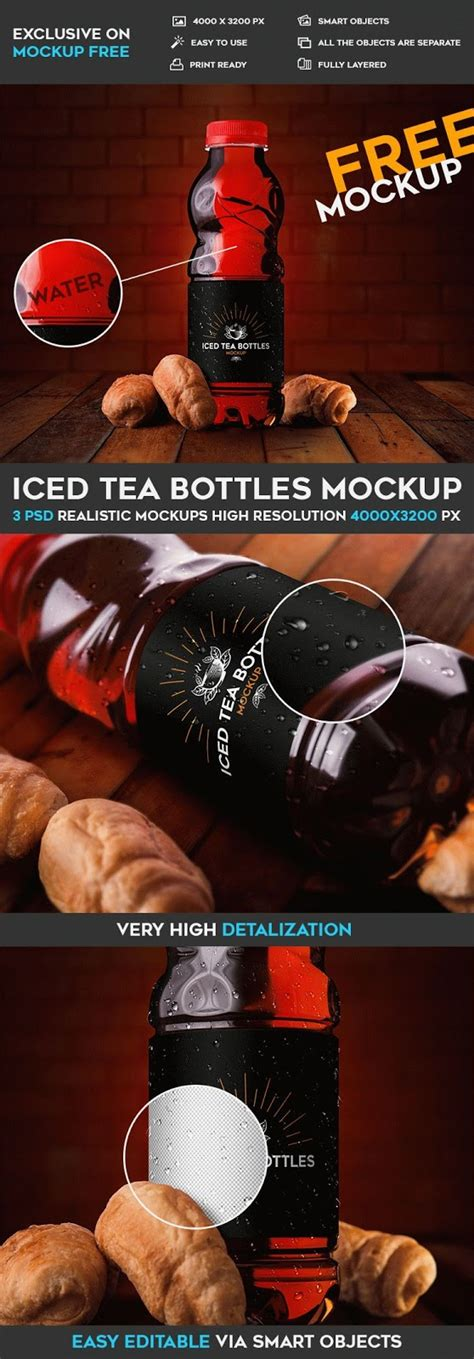 The best bottle mockups free download for your next project. 60+ Best Tea Bottle Mockup Templates | Graphic Design ...