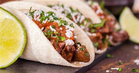 Traditional Taco Recipe With Carne Asada And Homemade Salsa