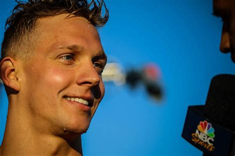 At the 2017 world aquatics championships in budapest, dressel became the first swimmer ever to win three gold medals on a single day. Caeleb Dressel Tried to Negative Split the 100 Freestyle ...