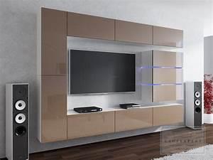 Tv Wand Modern : die besten 25 tv wand mit led beleuchtung ideen auf ~ Michelbontemps.com Haus und Dekorationen