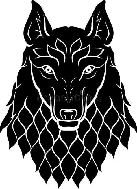 Wolf Tattoo stock vector. Illustration of fast