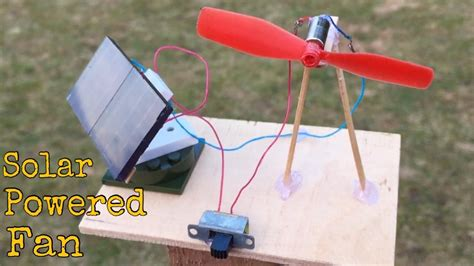 how to make a solar powered fan how to make a mini solar powered fan at home youtube