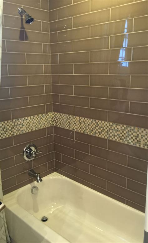 Subway Tile Bathroom Colors by Brown Glass Subway Tile For Bathroom Shower Home Glass