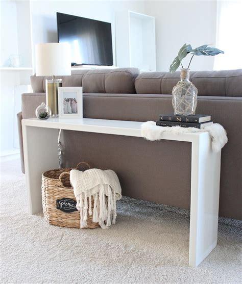 Diy Wood Sofa by 20 Easy Diy Console Table And Sofa Table Ideas Hative
