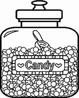 Coloring Candy Pages Printable Jar Coloringpages101 Sheets Candies Chocolate Adult Bar Children Jelly Bean Pdf Valentine sketch template