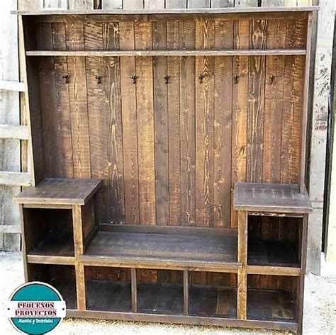 recycled pallets wooden wardrobe  clothes hanger