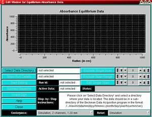 Editing Absorbance Equilibrium Data