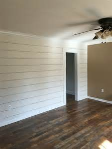 pergo flooring river road oak client remodel faux shiplap wall with larger 1 8 quot spacing and pergo max flooring in river road