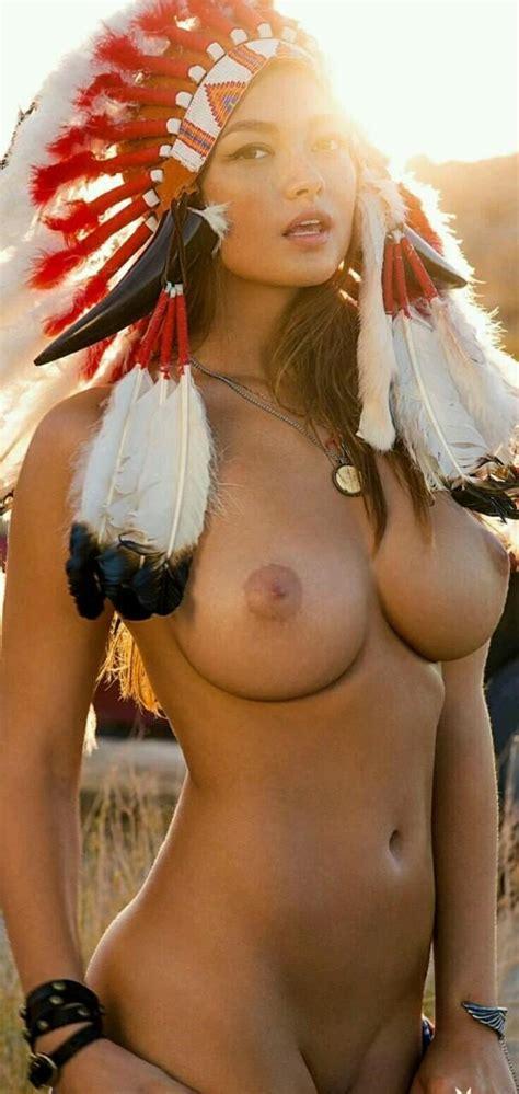 A Hot Nude Native American Costume Nudeshots