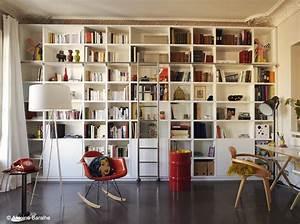 Ikea Bibliothèque Blanche : bibliotheque pan de mur salon pinterest pan de mur pratique et mur ~ Teatrodelosmanantiales.com Idées de Décoration