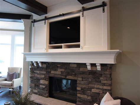 Genius Fireplace Blueprints by Sliding Doors Tv Above Fireplace New House Ideas