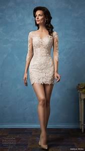 amelia sposa 2017 wedding dresses royal blue bridal With mini skirt wedding dress