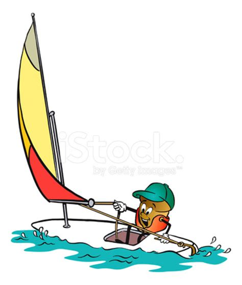 Sailing Boat Cartoon Pictures by Acorn Cartoon Character Sailing Stock Vector Freeimages
