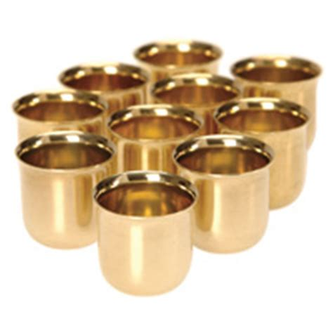 solid brass candle cups pack project kits carbatec