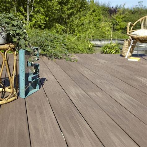 planche composite terrasse premium brun l 240 x l 15 cm x ep 21 mm leroy merlin