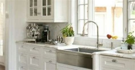 stainless steel apron sink white cabinets farmhouse sink stainless steel or cast iron hometalk