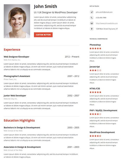 cv resume plugin 10 free resum 233 cv themes bonus plugin gonzoblog best cv resume themes