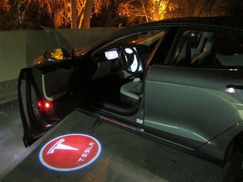 car door light logo projector logo lights teslatap
