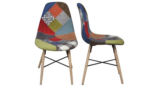 siege chaise haute lot de chaises scandinave patchwork groupon