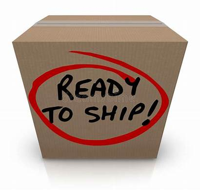 Ready Ship Box Package Order Shipping Mailing