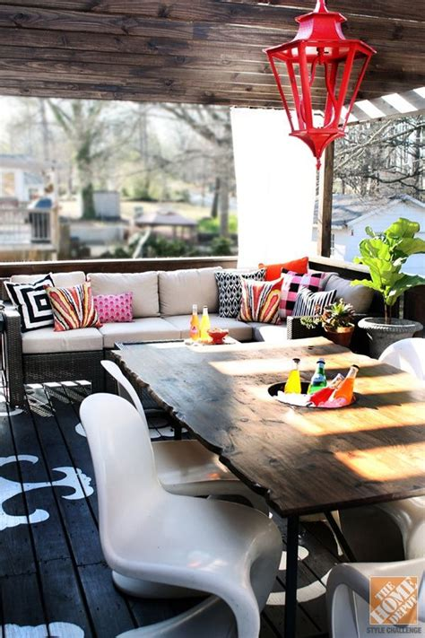 So cosy Deco veranda Idée déco véranda Decoration terrasse