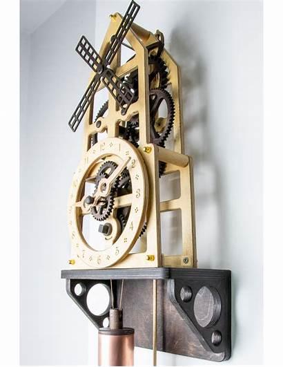 Clock Wooden Wall Kit Windmill Kits Wood
