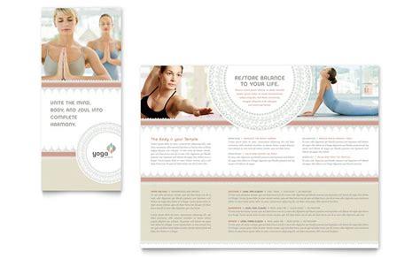 pilates yoga tri fold brochure template word publisher