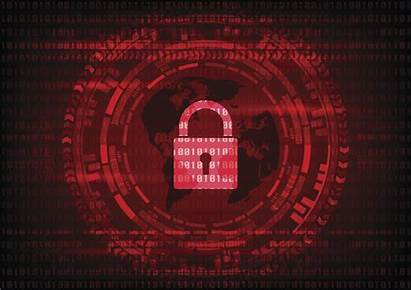 Cyber Security Background Lock Cybercrime Concept Malware