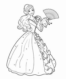 Barbie Doll Dancing Coloring Pages | Kids Coloring Pages ...
