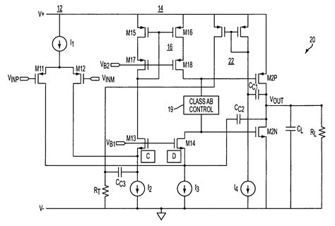 patent  class ab folded cascode amplifier