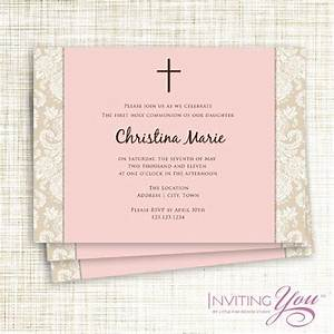 christening communion or confirmation invitation With confirmation invites templates