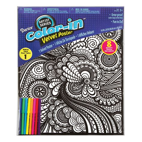 geometric velvet coloring posters  kids crafting
