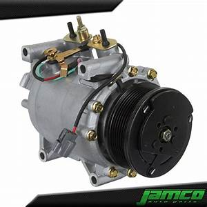 New Ac Compressor With Clutch A  C For 02