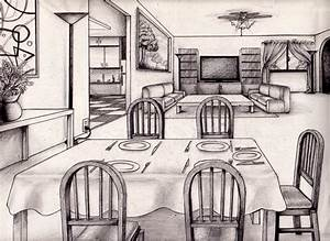 One Point Perspective Living Room Drawing Inspiration ...