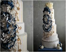 nautical wedding ideas nautical wedding theme real wedding ideas navy gold wedding cake onewed