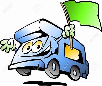 Caravan Cartoon Clipart Camper Clipground Illustration Site