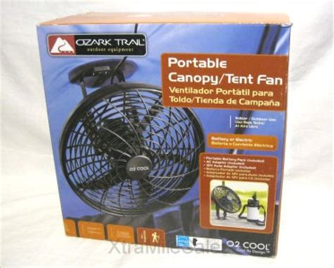 ozark trail 10 battery operated adjustable portable fan ozark trail tent canopy fan by o2 cool with 12 volt